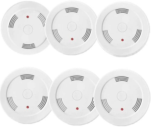 6 Pack Fire Alarms Smoke Detector