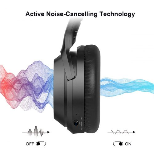 What is the active noise-canceling technology?